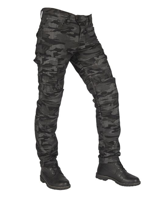 The Biker Jeans - All Road Antrasit Camo Flexi Korumalı Motosiklet Kot Pantolonu