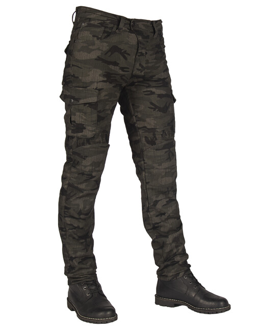 The Biker Jeans - All Road Army Khaki Camo Flexi Korumalı Motosiklet Kot Pantolonu