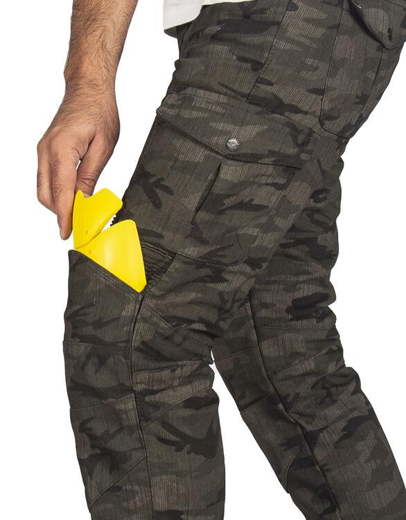 All Road Army Khaki Camo Flexi Korumalı Motosiklet Kot Pantolonu