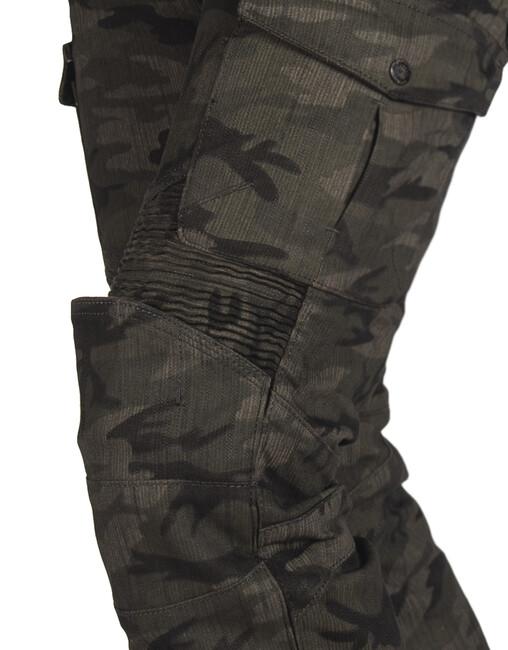 All Road Army Khaki Camo Flexi Korumalı Motosiklet Kot Pantolonu - Thumbnail