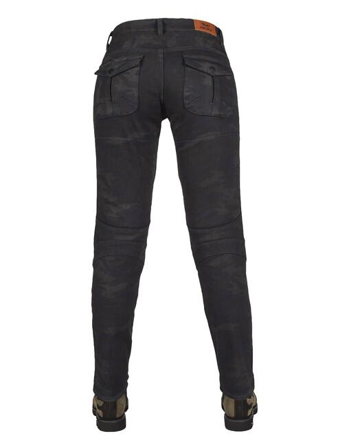 All Road Dark Blue Camo Flexi Korumalı Motosiklet Kot Pantolonu - Thumbnail