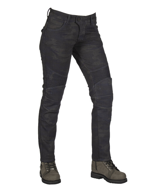 The Biker Jeans - All Road Dark Blue Camo Flexi Korumalı Motosiklet Kot Pantolonu