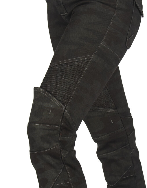 All Road Khaki Camo Flexi Korumalı Motosiklet Kot Pantolonu - Thumbnail