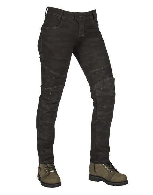 The Biker Jeans - All Road Khaki Camo Flexi Korumalı Motosiklet Kot Pantolonu