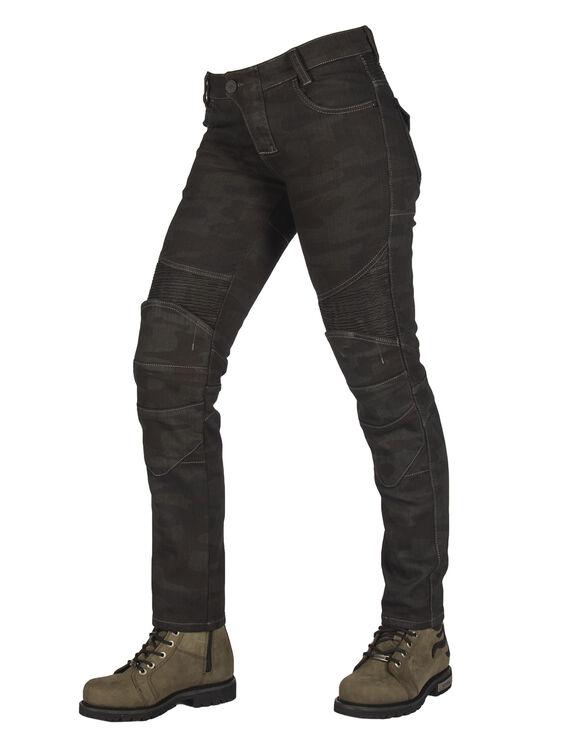All Road Khaki Camo Flexi Korumalı Motosiklet Kot Pantolonu