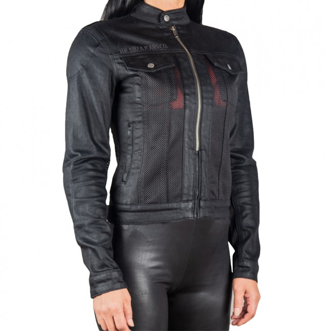 The Biker Jeans - Black Ice Korumalı File Motosiklet Kot Montu