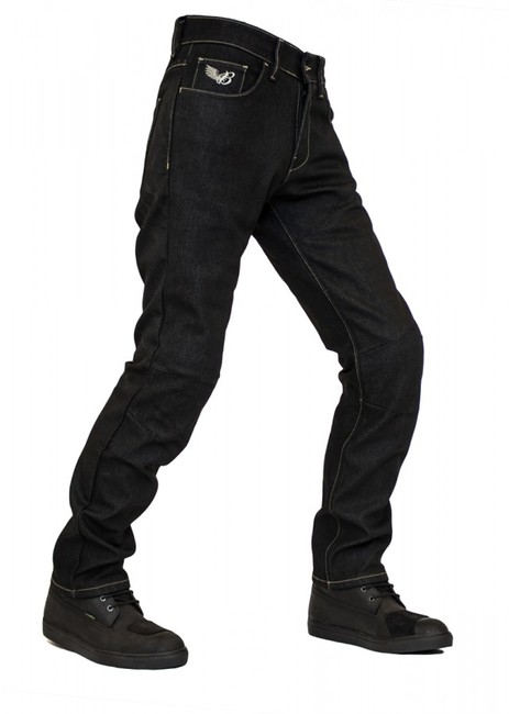The Biker Jeans - City Biker Cold Killer Black Korumalı Motosiklet Kot Pantolonu