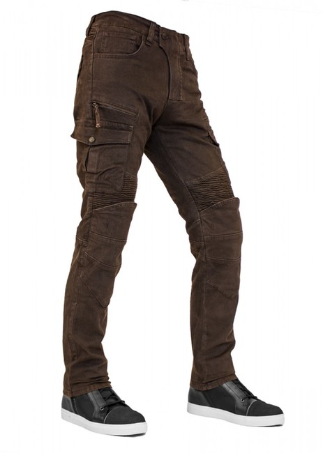 The Biker Jeans - Cotton Air Flexi D.Brown Korumalı Motosiklet Pantolonu
