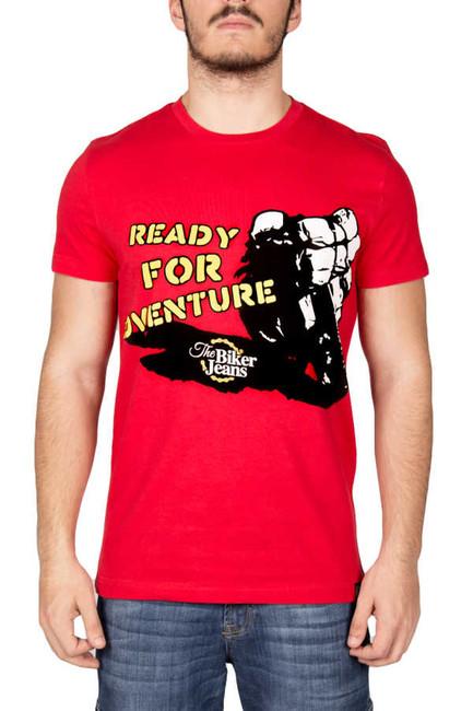 The Biker Jeans - DEVIL RED READY FOR ADVENTURE TİŞÖRT - BJT008