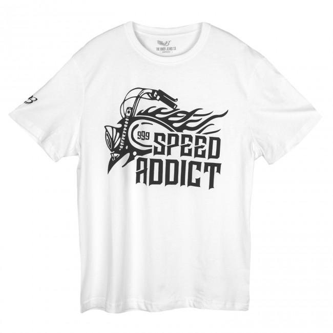 The Biker Jeans - Speed Addict Beyaz T-Shirt