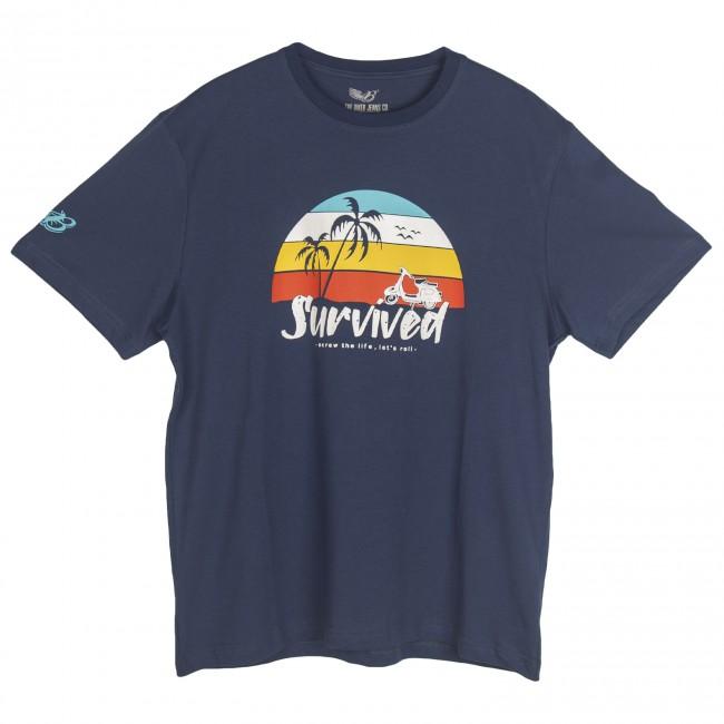 The Biker Jeans - Survived Lacivert T-Shirt