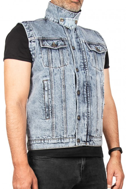 The Biker Jeans - Texas Blue Denim Vest