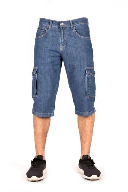 The Biker Jeans - VINTAGE BLUE ERKEK KARGO ŞORT